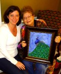 grandmother with painting