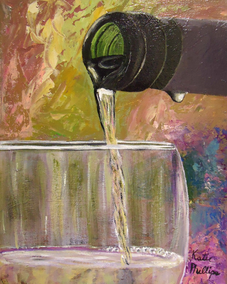 "Wine painting ""Pour"""