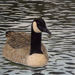 Painting - Simms Lake Goose