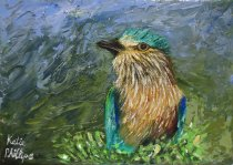 Feathered Fellow painting