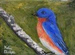 Little blue bird painting