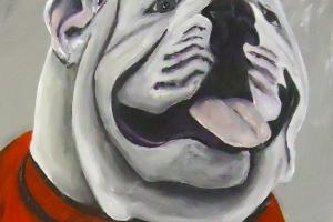 bulldog UGA mascot painting