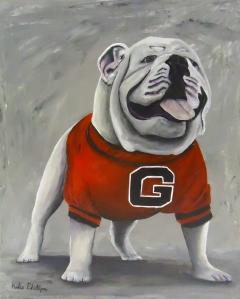 UGA bulldog mascot painting