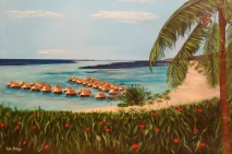 I created this painting from a honeymoon photo. What a great way to remember a special event!