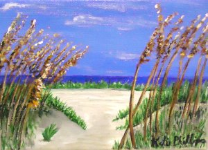 Beach, painting, Etsy