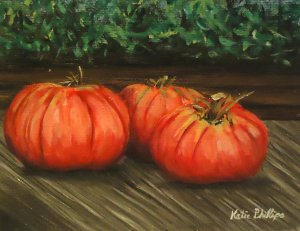 heirloom tomato painting