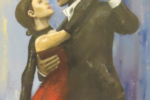 Tango dancer painting