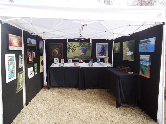 Art fair tent display