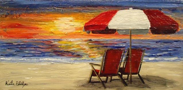 beach painting ocean palette knife