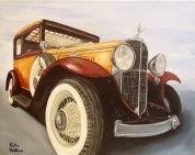 commission, painting, classic car