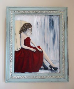 """Waiting"" in vintage frame"