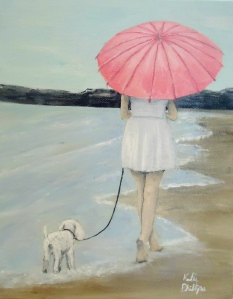 figure painting seaside stroll