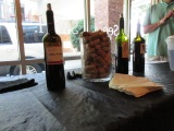 Artisan wines were on hand for guest to sample and purchase.