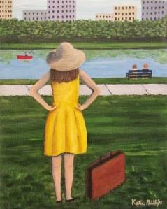 Sunny Upon Arrival, acrylic on 8x10 canvas
