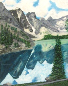 Lake Louise, 16 x 20 acrylic on canvas.