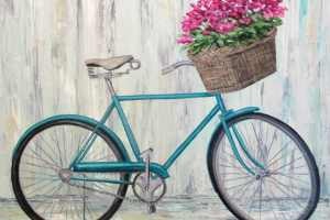 bicycle painting with flowers